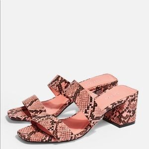 Top shop snakeskin mules! NEW